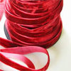 Scarlet Crushed Velvet Ribbon
