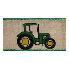 Natural Tractor Linen Ribbon