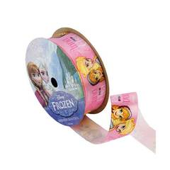 Anna And Elsa Pink Satin Frozen Ribbon