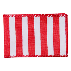 Red Wired Stripe Spirit Ribbon