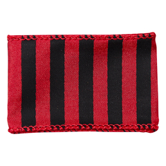 Red/Black Wired Stripe Spirit Ribbon