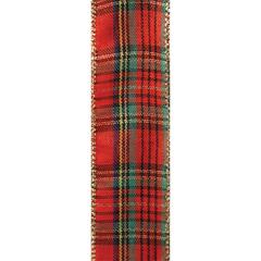 Red/Green Traditional Plaid Ribbon