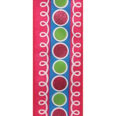 Pink/Green Wired Durango Ribbon